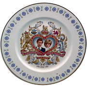 Prince Charles Lady Diana Wedding Commemorative Plate Mayfair Bone China