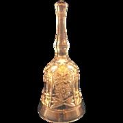 SALE Lead Crystal Hand Dinner Bell Hobstar Circle Diamond Block