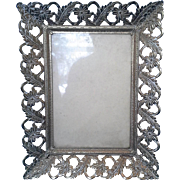 SALE Gilt Flower Leaf Filigree Photo Picture Frame 5 x 7