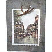 SALE ST ANN STREET ARCHIE'S SKETCHES HISTORIC NEW ORLEANS ROOFING SLATE ARTWORK