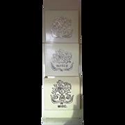 SALE Fesco Cream Gold Plastic Wall Pocket Organizer Letters Notes Misc