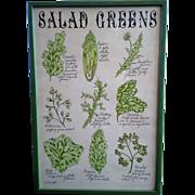 SALE Salad Greens Framed Art Print Pati Redding Soovia Janis 1968 13 x 19