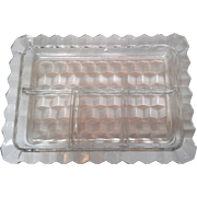 SOLD Fostoria American Rectangle 4 Part Relish 9 x 6