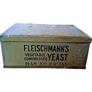 SALE Fleischmanns Vegetable Compressed Yeast Advertising Tin