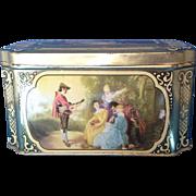 SALE Fragonard Scenes Tin W Germany Small Casket