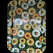 SALE Marshallen Marsh Allen Yellow Orange Green White Daisies Bed Lap Tray Flower Power
