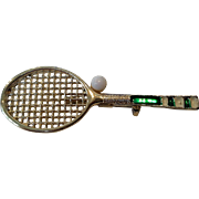 Gerry's Tennis Racket Ball Pin Brooch Pendant