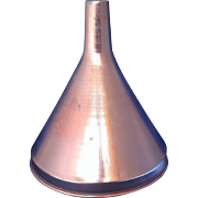 SOLD Pink Copper Colored Anodized Aluminum Funnel