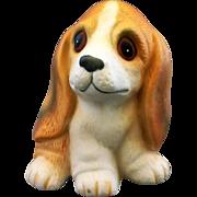 Homco Basset Houng Dog Porcelain Figurine 1407 Taiwan