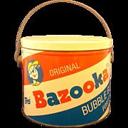 SALE Bazooka Bubble Gum Pail Bucket Tin 1991 Topps