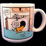 SOLD Far Side Cat Fud Mug Gary Larson 1985