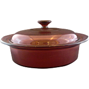 Corning Cranberry Visions 2.5L 2.5 QT Casserole With Lid