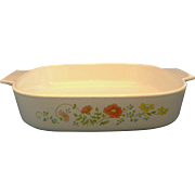 Corning Wildflower A-10-B Square Casserole 2 1/2 Qt No Lid