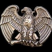 Avon Majestic Eagle Pewter Tone Belt Buckle