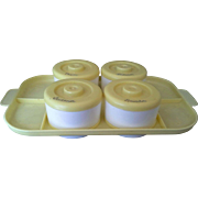 SALE Yellow White Plastic Baby Diaper Changing Kit Supplies Caddy