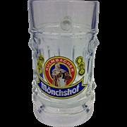 Kulmbacher Monchshof Glass Beer Stein Mug .25 L