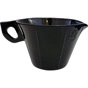 US Scroll Black Depression Glass Creamer
