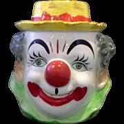 Hand Painted Clown Cookie Jar PY Japan
