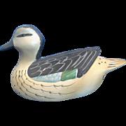 SALE Mallard Duck Hand Painted Bisque Porcelain Duck Decoy