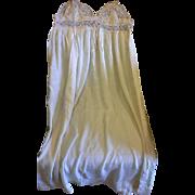 Ecru Cream Silk Chiffon Nightgown Nightie Lace Top