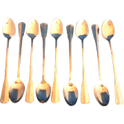 Oneida Colonial Artistry Iced Tea Spoons 18/8 Stainless Set of 9