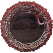Avon Cape Cod Ruby Red Glass Salad Plate