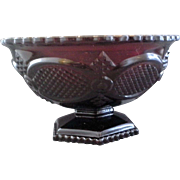 Avon Cape Cod Ruby Red Glass Open Round Candy Dish