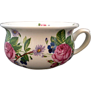 Arthur Wood England White Ironstone Rose Floral Mini Chamber Pot