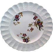 Spode Wicker Lane Salad Plate Scalloped Embossed Rim
