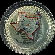 Texas Sesquicentennial Commemorative Glass Paperweight JAS 1985