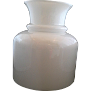 White Milk Glass Tall Lamp Shade Floor Table Lamp Blown Glass