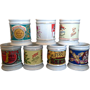 The Corner Store Vintage Advertising Porcelain Mugs Set of 7 Heinz Pinkham Ferry Carnation ...