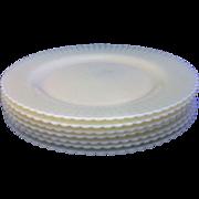 Cremax Beige Petalware MacBeth Evans Dinner Plates Set of 7