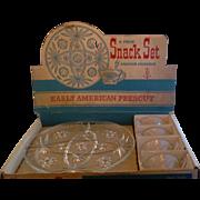 EAPC Early American Prescut Anchor Hocking 8 Pc Snack Set Still in Box