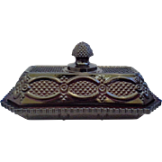 Avon Cape Cod Ruby Red Glass Butter Dish