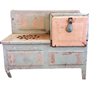 1930s Jadeite Green Metal Toy Doll Stove Electric Range
