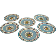 Pre 1920:Limoges Flower Basket Dinner Plates by Charles Ahrenfeldt