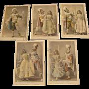 """Antique French Postcard Set """" La Poupee Vivante """""""