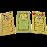 """1916: Set of Volland """" Calendar Cookbooks """" by Elizabeth O. Hiller"""