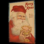 SALE PENDING 1921: Santa with Jewels Postcard