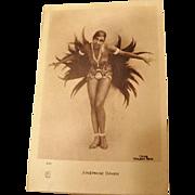 Original Josephine Baker Postcard by Walery