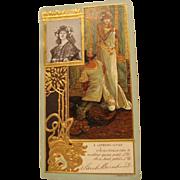 1902 :  Original Mucha Designed Advertisement  Postcard for Sarah Bernhardt & Lefevre-Utile ..