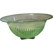 Green Depression Glass Mixing bowl by Federal glass