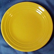 "SALE Bauer Ringware 6"" Plate, Yellow"