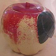 SALE Hull Apple Cookie Jar, circa 1930-50