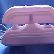 SALE Electric Nursery Lamp/Nightlight, Durable Pink Plastic, Nursery Rhyme Characters, circa .