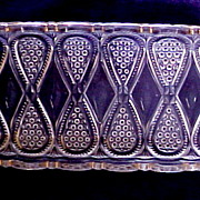 "SALE US Glass Co. Pickle Dish, ""New Jersey"" Pattern (AKA Loops & Drops), circa 1900"