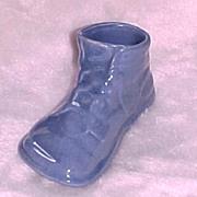SALE Metlox Pottery Ceramic Baby Shoe Planter, circa 1938-42