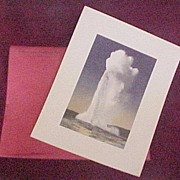 "SALE ""The Red Portfolio"", 6 Prints by J.E. Haynes, Yellowstone National Park, 1938"