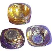 SALE Jeannette Floragold Berry Bowls, Set of 6, circa 1950